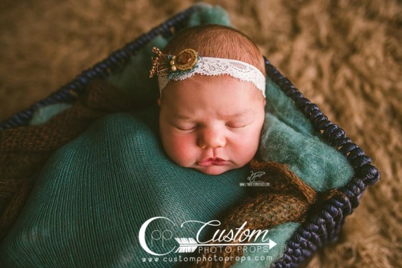 Stretch Wrap & Matching Newborn Headband