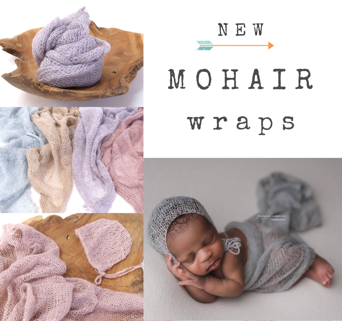 All New Mohair Wraps & Baby Bonnets!